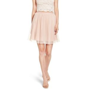 Jump tulle shimmer skirt in BLUSH homecoming prom